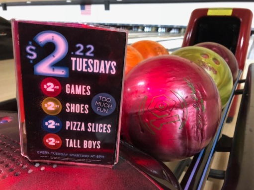 AMF Bowling $2.22 Tuesday Happy Hour, Yorktown VA